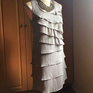 Gray ruffle dress by INC