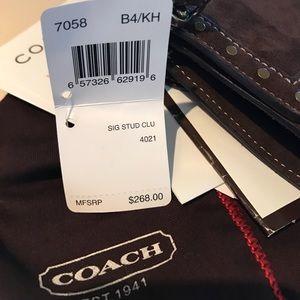 Coach Bags - Coach 7058 Signature Stud Clutch Wristlet Wallet