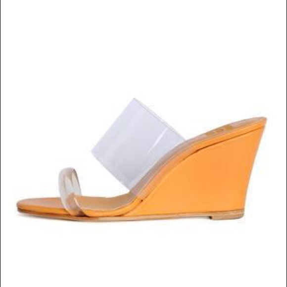 8ca8a2836e maryam nassir zadeh Shoes | Olympia Wedge In Apricot Nib | Poshmark