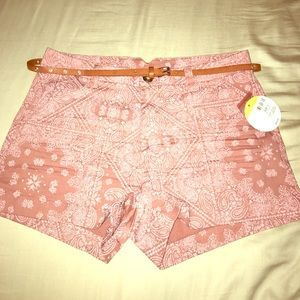Pink shorts with a lot of detailing