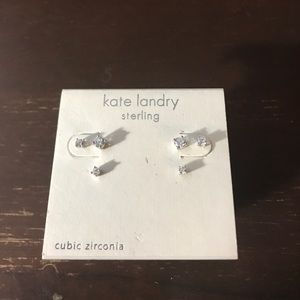 Kate Landry Jewelry - NWT Diamond (CubeZ)Stud Earrings!X 3 sets