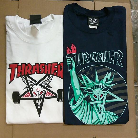 1a0b0bb19456 Supreme Shirts | Thrasher Classic 6 Goat Bundle | Poshmark