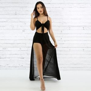 Dresses & Skirts - Light as a Feather Black Mesh Maxi ⚜