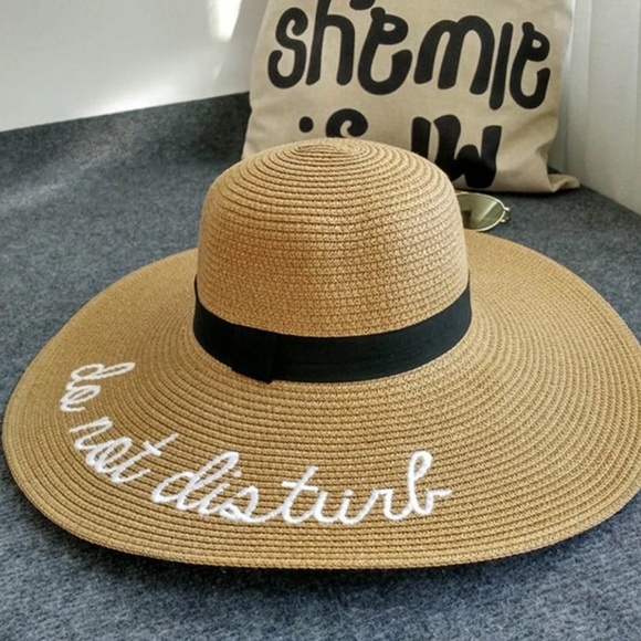 52f75b7c0b4 Accessories - Do Not Disturb Wide Brim Sun Hat