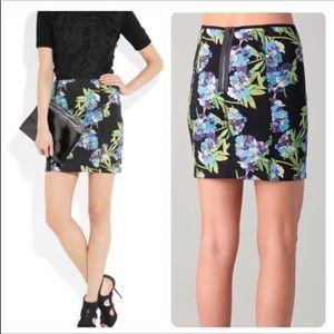 NWT. Elizabeth & James floral scuba skirt Small