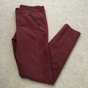 Club Monaco Burgundy Pants.