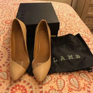 Lamb nude sexy pumps.