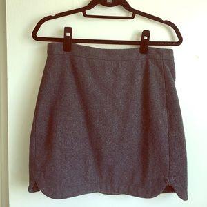 ❗️SALE ❗️J Crew Gray Felt Scalloped Mini Skirt 👔