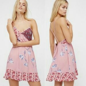 NWT Free People Floral Print Summer Sundress