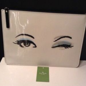 NWT Kate Spade Winking Clutch Bag