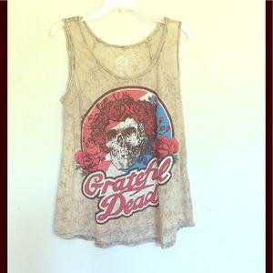 Grateful Dead Tops - Grateful Dead Skull & Rose Tank