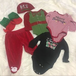 Other - Christmas hat, booties, pants and onesies