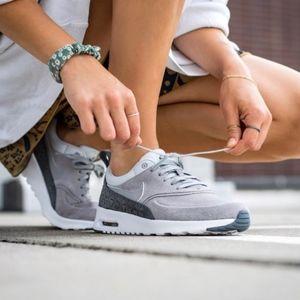 Nike Premium Grey Suede Air Max Thea Sneakers