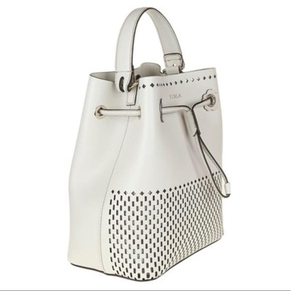 Furla Handbags - White Furla Mini Stacy