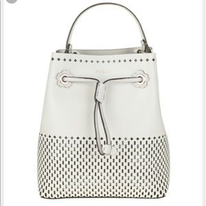 Furla Bags - White Furla Mini Stacy