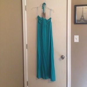 NWOT Design History green halter dress size small