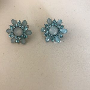 Jewelry - Blue Jeweled Earrings