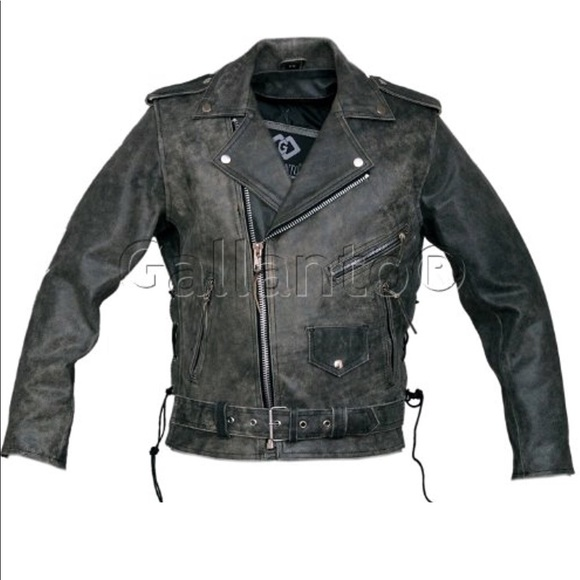 f068724a78e gallanto Other - Men s distressed leather biker jacket- like new