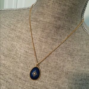 Avon Jewelry - Vintage Avon Blue Egg-Shaped Necklace