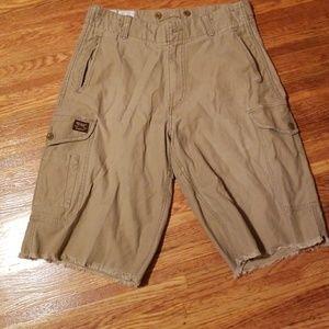American Eagle Frayed Cargo Shorts