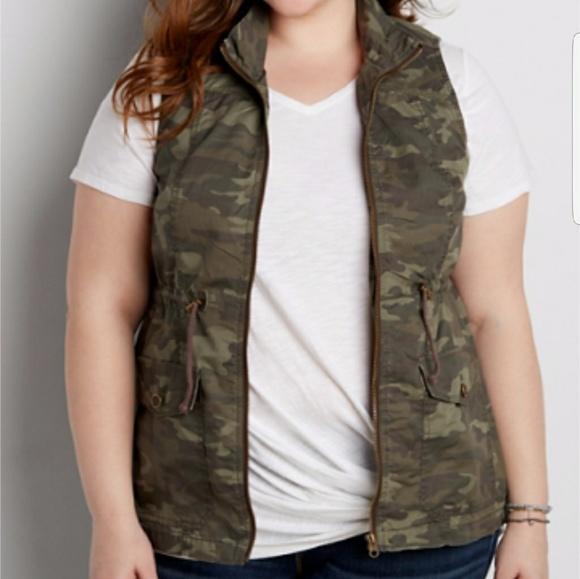 20895d4e71b 🌻Camo Anorak Vest Plus Size 1 (16 18)