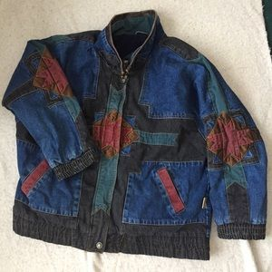 Oversized denim 90's grunge western vintage jacket