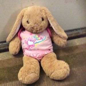 Other - Build a bear bunny with hello kitty clothes