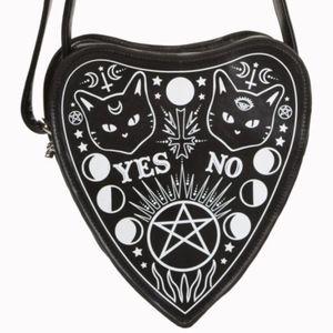 Handbags - Ouija Black Cat Gothic Spiritual Moon Star Purse