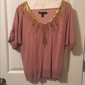 Tops - SILK DUSTY PINK NIGHT OUT TOP