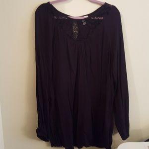 NWOT Liz Lange Maternity Black Tunic Size XL