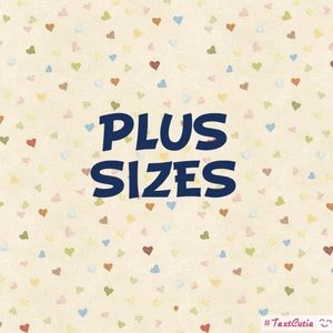 A variety of ladies plus sized clothing .