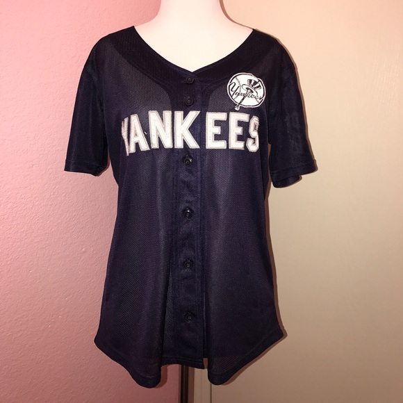 b839124449 PINK Victoria s Secret New York Yankees jersey top.  M 5973e1b4713fded96d004885