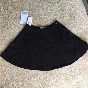 Brand new black denim skirt