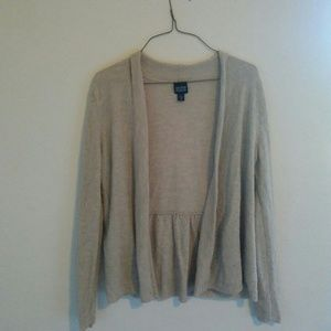 Tan Italian Yarn Eileen Fisher Cardian