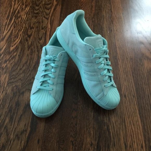 adidas Other - Men s custom Adidas Superstars in Tiffany blue 41f491e53
