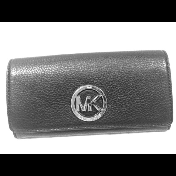fcba03932c35 Michael Kors Fulton Carryall Black leather wallet