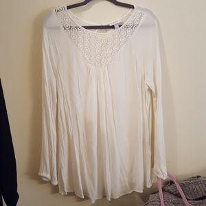 NWOT Liz Lange Maternity White Tunic Size XXL