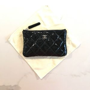 1d94810eb41b CHANEL Accessories - Chanel classic patent leather quilted coin purse