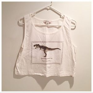 Adam Levine Collection T-Rex Crop Top! 