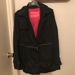 NWOT Betsey Johnson rain jacket sz XL