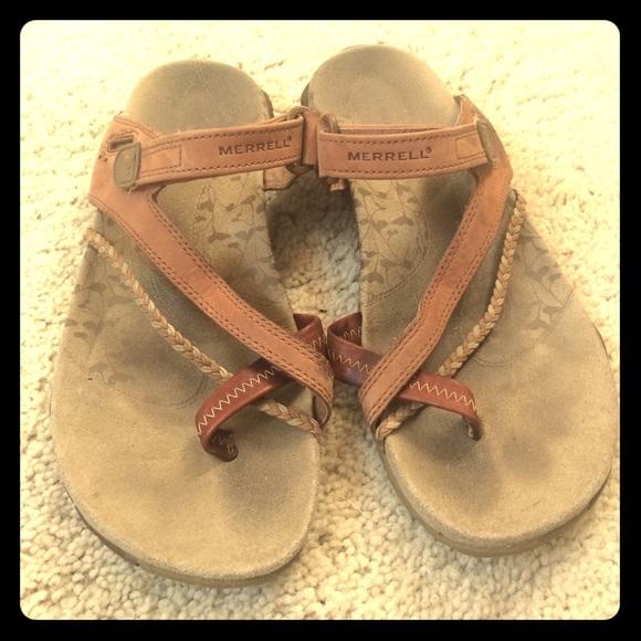 b23eeafa2d14 Merrell Sandal Flip Flops Siena Light Brown Hippie.  M 5973f4d1713fde2c2a000f8e