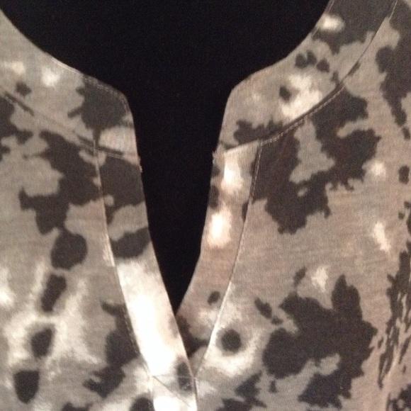WOMAN WITHIN Tops - Black & Grey 'tie dye' Shirt.