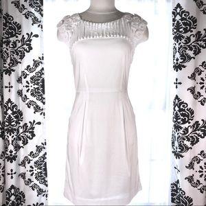 BCBGMaxAzria Dorine short sleeve w/ rosettes SZ 6