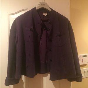 Armani Collezioni wool jacket Sz.14 purple