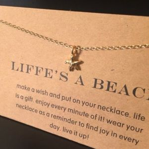 Jewelry - Life's A Beach Gold Starfish Pendant