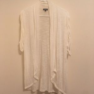 NWOT- Express white lightweight cardigan