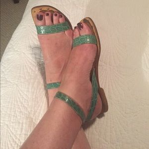Lovely flat ankle strap sandals
