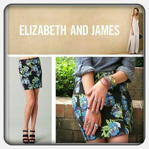 Floral *Scuba Skirt* Elizabeth and James NWOT