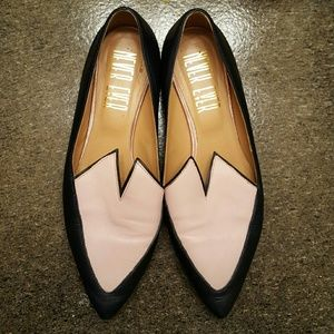 Vintage Leather Heart Flats