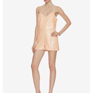 Jay Godfrey Blush Sequin Romper
